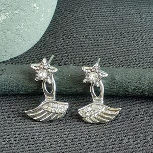 New!! 🎁 Beautiful Earrings Angel Wings Star.